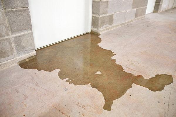 Visible Water Leak